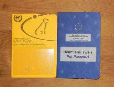 Hunde Impfausweis EU-Heimtierausweis