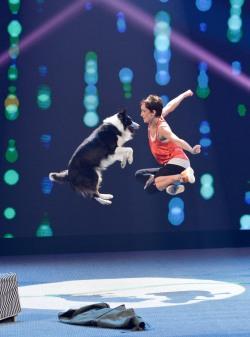 Alexandra Plank mit Hund Esprit