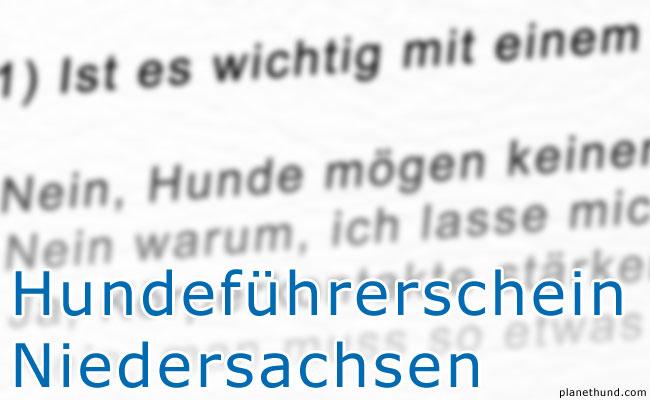 Hundeführerschein Niedersachsen Testfragen Sachkundenachweis