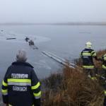 Hundebesitzer und Hund aus zugefrorenem Teich in Bärnbach gerettet