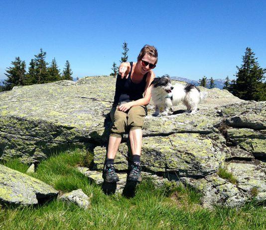 Berg Hund Frau