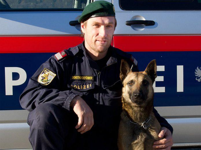 Polizeihund Bendix Diensthundefuehrer Gerd Berger