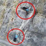 Bergsteigerinnen und Hund aus steiler Bergwand mit Hubschrauber geborgen