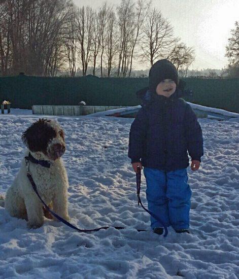 Hund Leine Hundeschule Kind