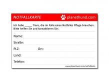 Notfallkarte Tiere