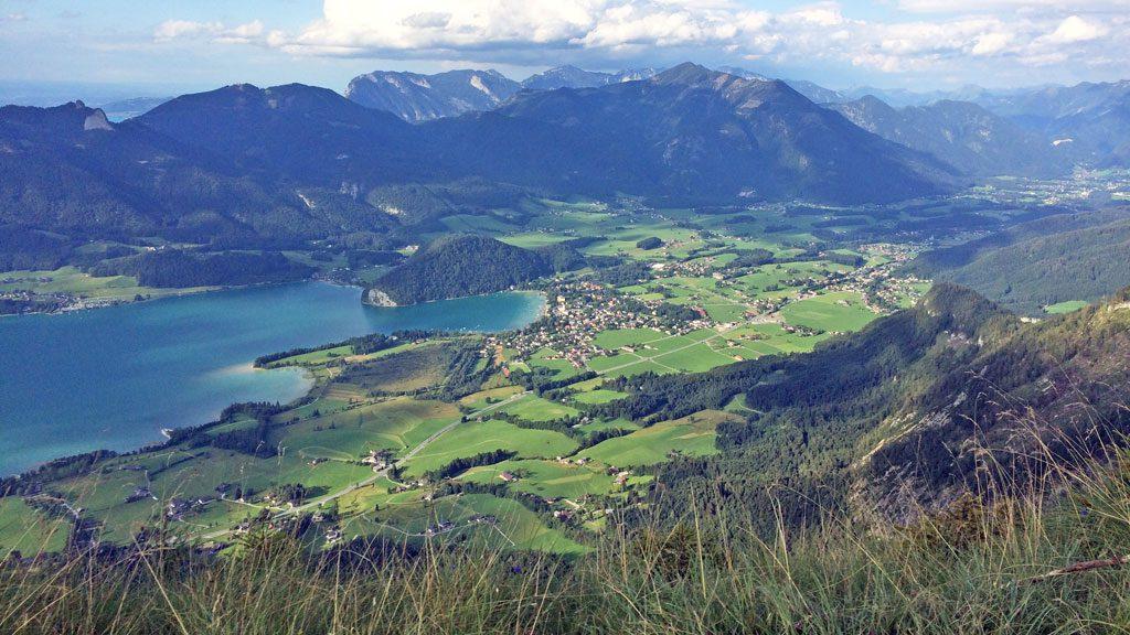 Wanderung zur Bleckwand mit Hund - Aussicht auf den Wolfgangsee