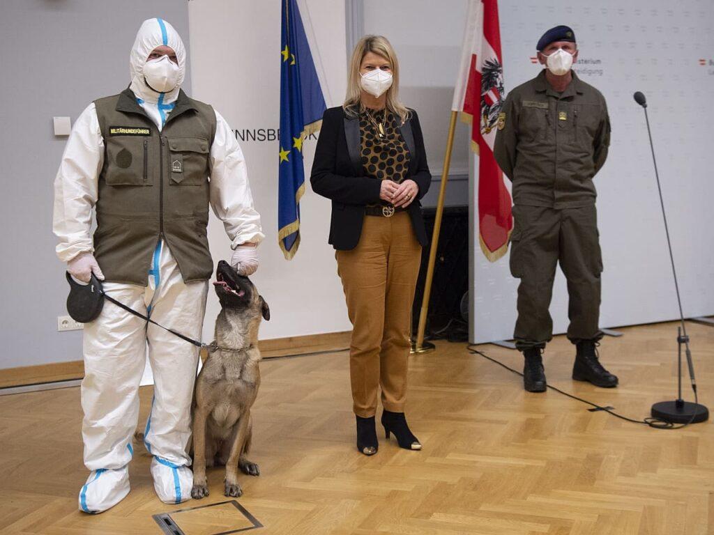 Bundesheer präsentierte Zwischenbericht von Corona-Spürhund